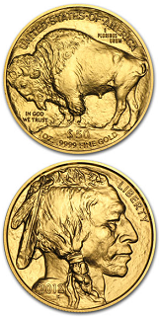 Amerikansk Gold Buffalo - 1 oz - 2015