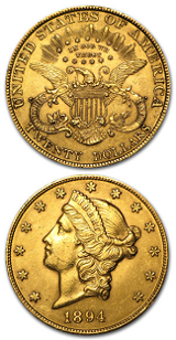 Amerikansk Double Eagle - $20 - Liberty Head - 30,09 gram guld